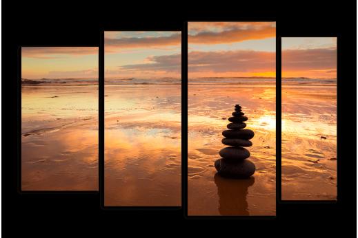 Модульная картина Гармония заката